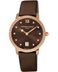 Frederique Constant - Jouilliere Diamond Watch - Lyst