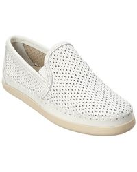 Minnetonka - Pacific Perforated Leather Slip-on - Lyst