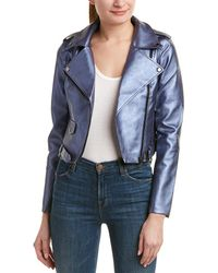 Romeo and Juliet Couture - Foil Moto Jacket - Lyst