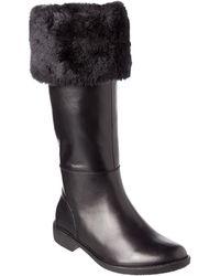 Taryn Rose - Avis Waterproof Leather Tall Boot - Lyst