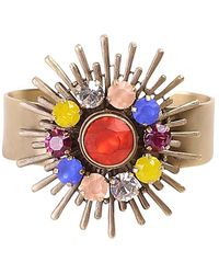 Loren Hope - Sunny Disposition 18k Plated Crystal Cuff - Lyst