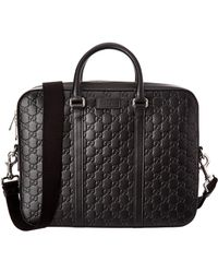 Gucci - Logo Embossed Briefcase - Lyst