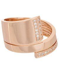 Effy - Fine Jewelry 14k Rose Gold 0.21 Ct. Tw. Diamond Ring - Lyst