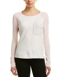 In Cashmere - Incashmere Colorblocked Cashmere Sweater - Lyst