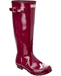 HUNTER - Original Tall Gloss Rain Boot - Lyst