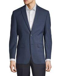 Calvin Klein - Plaid Wool Sportcoat - Lyst