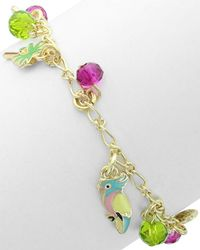 Sparkling Sage - Plated Resin Tropical Charm Bracelet - Lyst