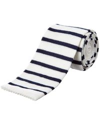 Façonnable - Navy & White Striped Tie - Lyst