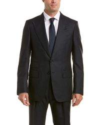 Tom Ford - 2pc Wool& Mohair-blend Suit With Pleated Pant - Lyst
