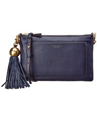 Tory Burch - Leather Tassel Crossbody - Lyst