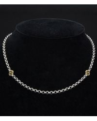 Konstantino - S/g Classics 18k & Silver Clover Toggle Necklace - Lyst