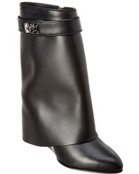 Givenchy - Shark Lock Leather Ankle Boot - Lyst