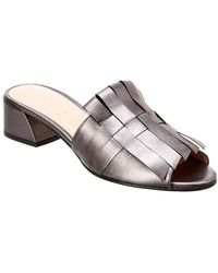 French Sole - Woolf Leather Mule - Lyst