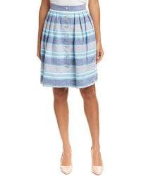 Brooks Brothers - Linen A-line Skirt - Lyst