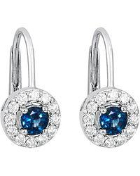 Le Vian - ? 14k 0.91 Ct. Tw. Diamond & Sapphire Drop Earrings - Lyst