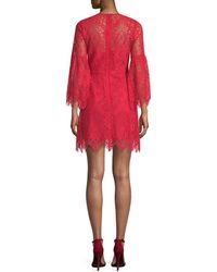 BCBGMAXAZRIA - Lace Bell-sleeve Dress - Lyst