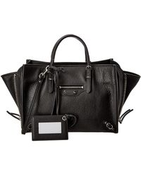 Balenciaga - Papier A6 Zip Around Leather Tote - Lyst