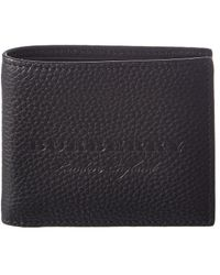 Burberry - Embossed Leather Bifold Wallet - Lyst