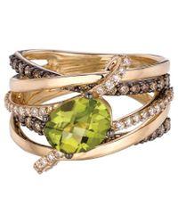 Le Vian - ® Gladiator® 14k 2.57 Ct. Tw. Diamond & Peridot Ring - Lyst