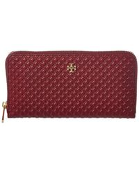 Tory Burch - Marion Embossed Leather Continental Wallet - Lyst