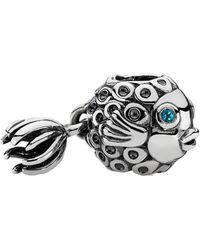 PANDORA - Silver Splish-splash Deep Fish Charm - Lyst