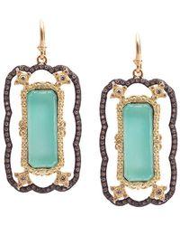 Armenta - Old World 18k & Silver 28.46 Ct. Tw. Diamond & Green Turquoise Drop Earrings - Lyst