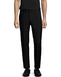 Givenchy - Solid Wool Flat Front Trouser - Lyst