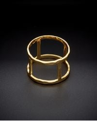 Argento Vivo - 18k Plated Open Rectangle Cut-out Ring - Lyst