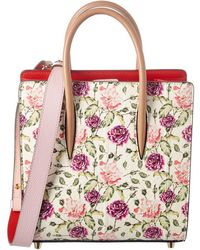 Christian Louboutin - Latte Rose Leather Tote - Lyst
