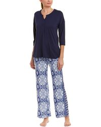 Ellen Tracy - 2pc Pajama Pant Set - Lyst