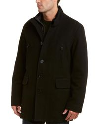 Cole Haan - Wool-blend Twill Coat - Lyst