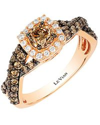 Le Vian - ® Chocolatier® 14k Rose Gold 1.11 Ct. Tw. White & Brown Diamond Ring - Lyst