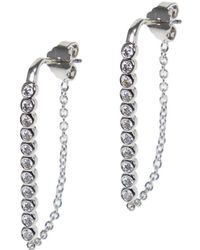 CZ by Kenneth Jay Lane - Plated Hoops - Lyst