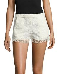 French Connection - Castaway Stripe Lace Short - Lyst