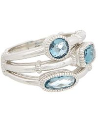 Judith Ripka - Sanibel Silver 2.60 Ct. Tw. London Blue Spinel Ring - Lyst
