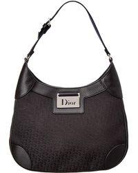 Dior - Black Canvas Shoulder Bag - Lyst