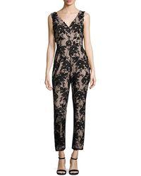 ML Monique Lhuillier - Floral Print Jumpsuit - Lyst