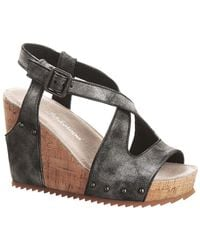 Antelope - 755 Leather Wedge Slingback Sandal - Lyst