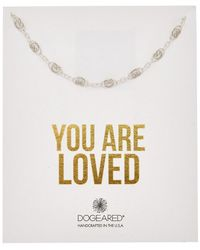 Dogeared - You Are Loved Silver Filigree Chain Choker - Lyst