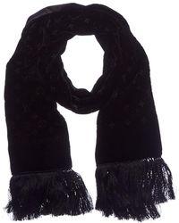 Louis Vuitton - Black Velvet Silk-blend Scarf - Lyst
