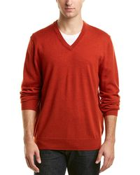 Brooks Brothers - Wool V-neck Sweater - Lyst
