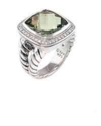 David Yurman - David Yurman Albion Silver 22.37 Ct. Tw. Diamond & Prasiolite Ring - Lyst