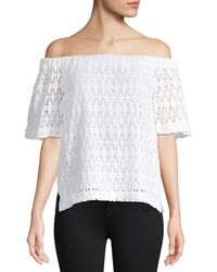 A.L.C. - Cheyenne Off-the-shoulder Lace Top - Lyst