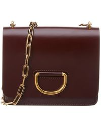 Burberry - Small D-ring Leather Shoulder Bag - Lyst