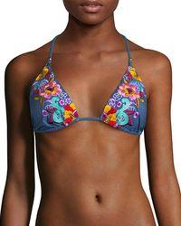 Nanette Lepore - Swim Dazed Denim Vixen Bikini Top - Lyst