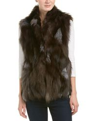 Adrienne Landau - High Neck Vest - Lyst