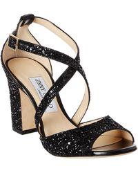 Jimmy Choo - Carrie 85 Coarse Glitter Fabric Sandal - Lyst
