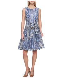 Tommy Hilfiger - Paisley-print Striped Sheer A-line Dress - Lyst