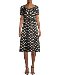Dolce & Gabbana - Embellished Printed Cotton-blend Gabardine Dress - Lyst