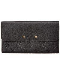 Louis Vuitton - Black Monogram Empreinte Leather Pont Neuf Wallet - Lyst